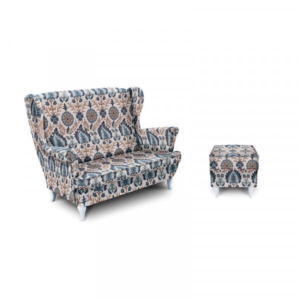 COLUMBUS sofa z pufa
